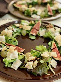 Table Decorations, Ravioli, Cheese, Raisin, Figs, Salads, Food Design, Fresh, Dinner Table Decorations