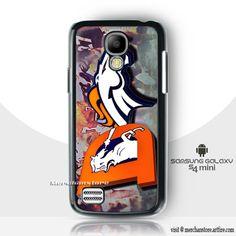 Denver Broncos American Football Team Mascot Logo NFL Samsung Galaxy S4 Mini Case