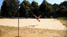 Kick the moon flip acrobatics workout