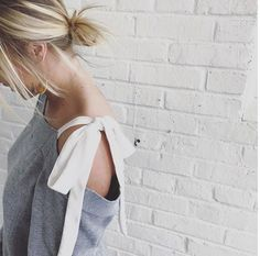 throw on this bow off the shoulder tee + some denim! casual done beautifully. Image Via: anthro_ps Instagram