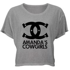 Cowgirls Bachelorette: Custom Misses Bella Flowy Boxy Lightweight Crop T-Shirt - Bridal Party Tees