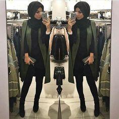 chic-cape-coat-hijab-style- Hijab casual wear 2017 www. Islamic Fashion, Muslim Fashion, Modest Fashion, Trendy Fashion, Fashion Check, Men's Fashion, Hijab Casual, Hijab Outfit, Casual Wear
