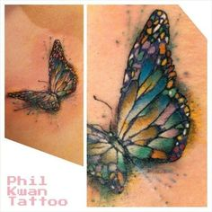 Adorable small watercolor butterfly tattoo | Tattoomagz.com › Tattoo Designs / Ink-Works Gallery › Tattoo Designs / Ink Works / Body Arts Gallery