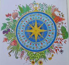 Compass--Enchanted Forest--Johanna Basford