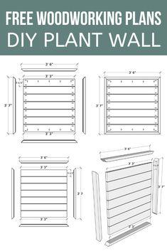 Are you looking for an easy DIY wood project for your backyard? Check out how to build this easy wood plant wall that is sure to add creativity to your garden! #plant #wall #creative #wood Diy Projects Using Wood, Easy Woodworking Projects, Woodworking Plans, Garden Storage Shed, Build A Wall, Shed Colours, Cottage Style Decor, Diy Plant Stand, Backyard Makeover