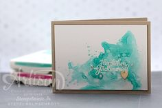 Stampin' Up! - Video - Geburtstagskarte - Aquarell - Bermudablau ❤︎ Stempelwiese