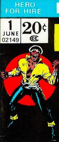 Marvel corner box art - Hero for Hire #1 (Luke Cage)