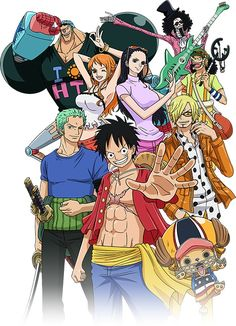 Straw hat pirates after the time skip one piece