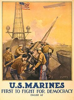 https://flic.kr/p/7fzF7g | WW1- Marines- first to fight | view the entire 'We Love Propaganda' set!