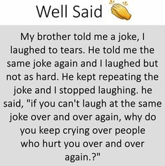 Bcz there is difference between laughing and crying
