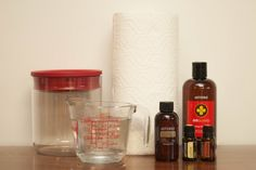 DIY disinfecting wipes (doTERRA)
