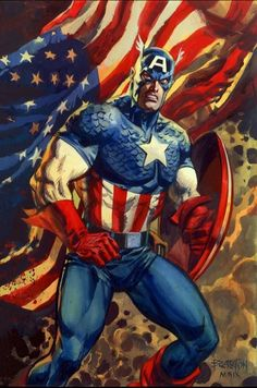 #Captain #America #Fan #Art. (Captain America) By: Dan Brereton. (THE * 5 * STÅR * ÅWARD * OF: * AW YEAH, IT'S MAJOR ÅWESOMENESS!!!™) [THANK U 4 PINNING!!<·><]<©>ÅÅÅ+(OB4E)