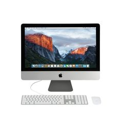Refurbished Apple iMac 21.5-Inch Ultrathin Core i5 All-in-one Desktop Computer w/ Apple Keyboard and Mouse