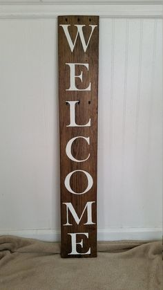 Welcome Wall Art, Welcome Art, Exterior Decor, Welcome Wood Sign