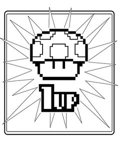 Super Mario coloring pages, pretty great, sorry to spam you all's feed!!