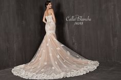 Jaqueline by Calla Blanche 16103 Lace Mermaid Wedding Dress