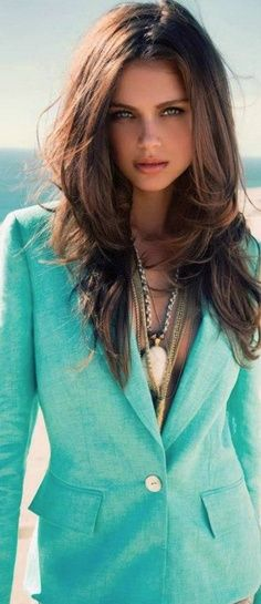 Couldn't decide if I should pin this in my fashion or beauty folder! I like her hair and her jacket!