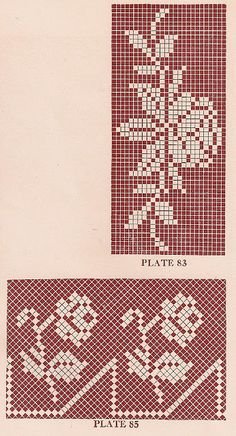 Sentimental Baby: Vintage 1920s Filet Crochet and Cross Stitch Patterns