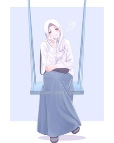 Muslim Images, Muslim Pictures, Cartoon Girl Images, Girl Cartoon, Cool Anime Girl, Anime Art Girl, Hijab Drawing, Islamic Cartoon, Hijab Cartoon