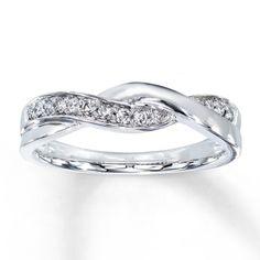 Diamond Ring 1/8 ct tw Round-cut 10K White Gold