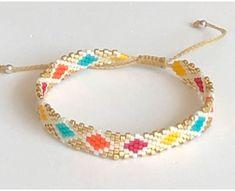 Bead Embroidery Jewelry, Beaded Jewelry Patterns, Beaded Embroidery, Beaded Bracelets, Earrings Handmade, Handmade Jewelry, Diy Jewelry, Jewelry Making, Beaded Jewelry