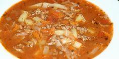 Nem og sund bondesuppe med bl.a. hakket oksekød, hvidkål, kartofler og gulerødder. Egnet til at fryse ned, så du kan sagtens lave en stor portion.
