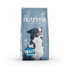 Nutrima Health Digestion -koiranruoka herkkävatsaisille ja yleisistä allergioista kärsiville koirille. Cover, Health, Books, Libros, Health Care, Book, Healthy, Book Illustrations, Libri