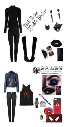"""Marvel"" by reverseflash on Polyvore featuring Alexis Bittar, Misha Nonoo, Catherine Catherine Malandrino, Chicnova Fashion, Lime Crime, NARS Cosmetics, Marvel, Casetify, Loungefly and Cross"