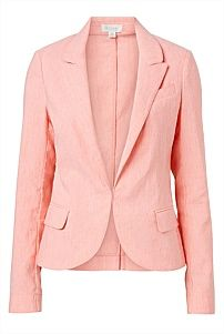 Classic Linen Blazer in Coral from Witchery. Summer Blazer, Honeymoon Outfits, Linen Blazer, Night Looks, Wardrobe Staples, What To Wear, Personal Style, Clothes For Women, Classic
