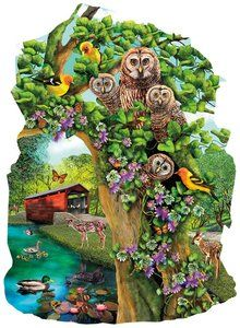Owl Condo (1000 Piece Shaped Puzzle by SunsOut)