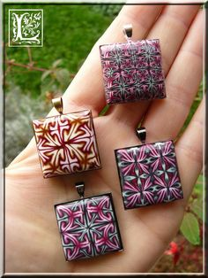 beautiful pendants - try with cabezels.