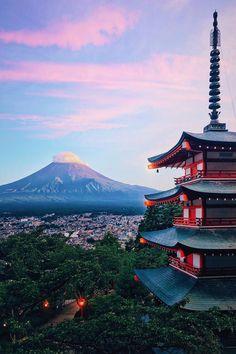 chureito pagoda, fujiyoshida city, japan