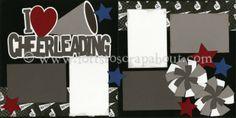 I Love Cheerleading Scrapbook Page Kit