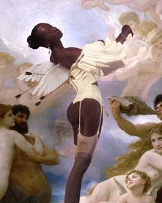 Classy Issues Inspo by Mux Jasper Black Girl Art, Black Women Art, Black Art, Art Girl, Black Girl Aesthetic, Angel Aesthetic, Aesthetic Art, Wallpaper Angel, Mode Pin Up