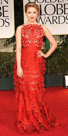 Golden globes 2012 - My Best Dressed in Giles Deacon (Dianna Agron) Stunning Dresses, Beautiful Gowns, Nice Dresses, Awesome Dresses, Celebrity Dresses, Celebrity Style, Info People, Giles Deacon, Fashion Competition