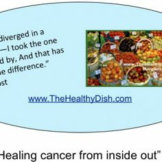 """""""Healing cancer from inside out"""" 