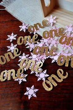 Winter Onederland Party Decorations ships by ConfettiMommaParty
