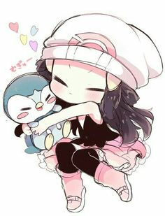 Its pokemon cuteness over load! Dawn is one of my fav characters from pokemon! Manga Pokémon, Chibi Manga, Dibujos Anime Chibi, Cute Anime Chibi, Kawaii Chibi, Arte Do Kawaii, Kawaii Art, Kawaii Drawings, Cute Drawings