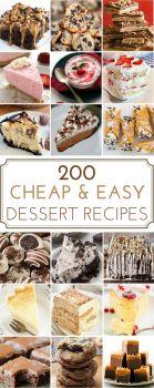 200 Cheap & Easy Desserts - ☆ Recetas y antojitos ☆ - Dessert Easy Cheap Desserts, Cheap Dessert Recipes, Sweet Desserts, Delicious Desserts, Cheap Recipes, Cheap Meals, Budget Desserts, Fruit Recipes, Desert Recipes