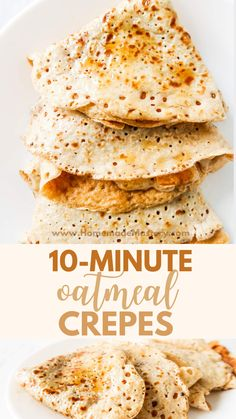 These healthy pancakes are easy and delicious - the perfect healthy breakfast recipe to start your day with. Breakfast Waffle Recipes, Breakfast Dishes, Healthy Crepes, Healthy Food, Easy Mediterranean Diet Recipes, Easy Family Meals, Quick Meals, Oatmeal Pancakes, Crepe Recipes