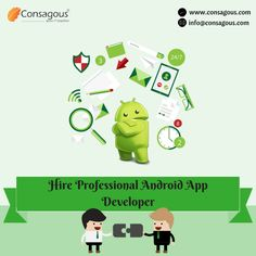 Hire team of professional android app developers with hands-on experience in developing custom and professional application based on android platform.