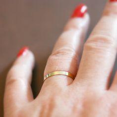 Gold band ring - minimalist wedding band Gold Band Ring, Gold Bands, Band Rings, Band Band, Minimalist Wedding, Minimalist Flat, Thin Gold Rings, Bead Shop, Minimalist Jewelry
