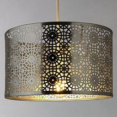 Buy John Lewis Eila Cutwork Shade, Brass Online at johnlewis.com