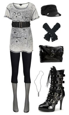 """""""Lost Girl Fashion - Kenzi 3"""" by ladysprinkles ❤ liked on Polyvore featuring Fogal, THVM, Topshop, Wet Seal, Funtasma, Goorin, FOSSIL, lost girl, kenzi and ksenia solo"""