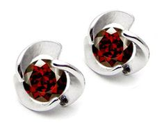 Original Star K(tm) Round 6mm Genuine Garnet Flower Earring Studs in .925 Sterling Silver Star K. $49.99. Certificate of Authenticity Included with this item. Guaranteed Authentic from the Star K designer line. Star K. Designs are exclusive and protected by Copyright Laws. Free High End Jewerly Box and Gift Packaging. Free Lifetime Warranty exclusively offered by Finejewelers. Save 69% Off!