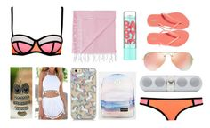 """Beach look #1❤️"" by salam-safi ❤ liked on Polyvore featuring WithChic, Mayde, Ray-Ban, Maybelline, JanSport and Old Navy"