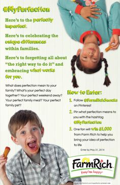 Is your family perfectly imperfect? Share some of those 'perfect' moments and you might win $1000 in the #MyPerfection contest going on now! (Deadline 5/31/14.)