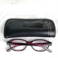 bf95afe1c6 Foster Grant Monica MAG Prescription Reading Glasses Purple Frame Black  Dots  FosterGrant