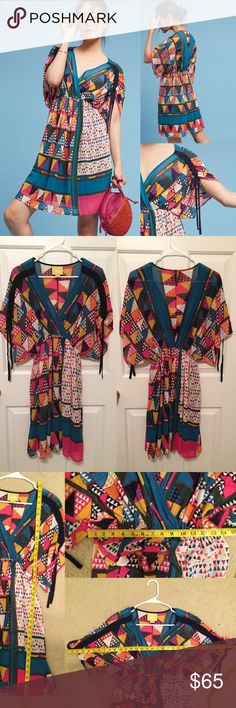 Anthropologie geo printed dress by Maeve In excellent condition! No known flaws! ❌trades or off-site transactions.I offer a variety of sizes in my closet therefore I do NOT model items.•I will counteroffer with the best value I can offer•I have 2 littles &🚑 an illness that sometimes requires serious medical attention 📬shipping may take a little longer because of my illness but usually I get it out within 2 days.Thank you for shopping my closet😘 Anthropologie Dresses