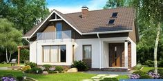 Not everyone has the opportunity to build your dream home, but little practical house - a real idea. Your attention a selection of ideas in a modern style sm. Two Story House Plans, Two Story Homes, Home Design 2017, House Design, Loft House, Patio Design, Home Projects, Small Spaces, Gazebo